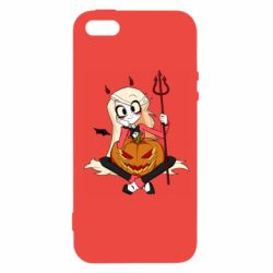Чехол для iPhone5/5S/SE Hazbin Hotel Charlie and pumpkin