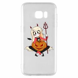 Чехол для Samsung S7 EDGE Hazbin Hotel Charlie and pumpkin