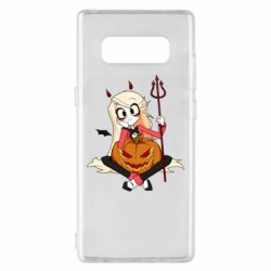 Чехол для Samsung Note 8 Hazbin Hotel Charlie and pumpkin