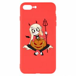Чехол для iPhone 8 Plus Hazbin Hotel Charlie and pumpkin
