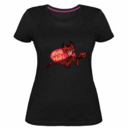 Женская стрейчевая футболка Hazbin Hotel