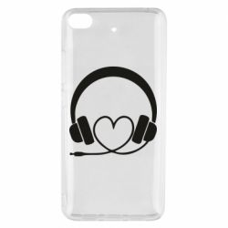 Чехол для Xiaomi Mi 5s Headphones and heart - FatLine