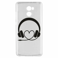 Чехол для Xiaomi Redmi 4 Headphones and heart - FatLine