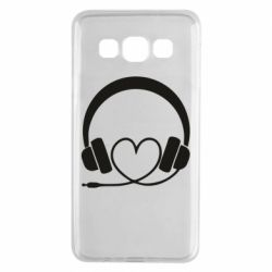 Чехол для Samsung A3 2015 Headphones and heart - FatLine
