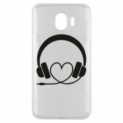Чехол для Samsung J4 Headphones and heart - FatLine