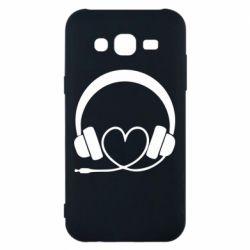 Чехол для Samsung J5 2015 Headphones and heart - FatLine