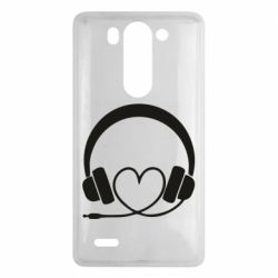 Чехол для LG G3 mini/G3s Headphones and heart - FatLine