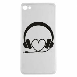 Чехол для Meizu U20 Headphones and heart - FatLine