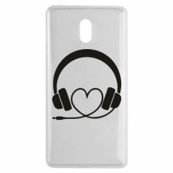 Чехол для Nokia 3 Headphones and heart - FatLine