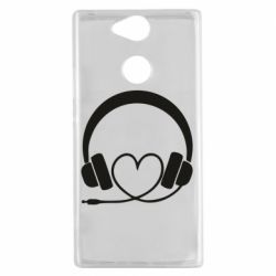 Чехол для Sony Xperia XA2 Headphones and heart - FatLine