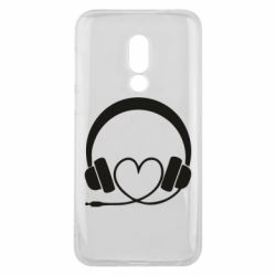 Чехол для Meizu 16 Headphones and heart - FatLine