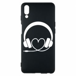 Чехол для Meizu E3 Headphones and heart - FatLine