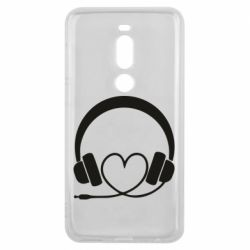 Чехол для Meizu V8 Pro Headphones and heart - FatLine