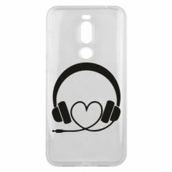 Чехол для Meizu X8 Headphones and heart - FatLine