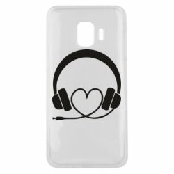 Чехол для Samsung J2 Core Headphones and heart - FatLine