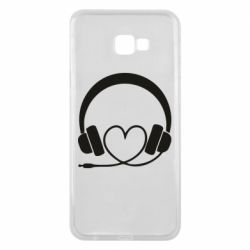 Чехол для Samsung J4 Plus 2018 Headphones and heart - FatLine