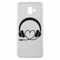 Чехол для Samsung J6 Plus 2018 Headphones and heart - FatLine