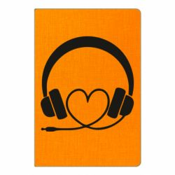 Блокнот А5 Headphones and heart - FatLine