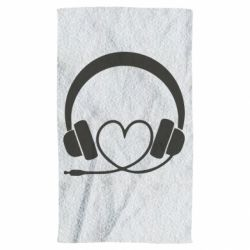 Полотенце Headphones and heart - FatLine