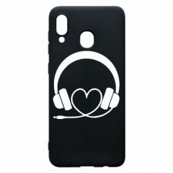 Чехол для Samsung A30 Headphones and heart - FatLine