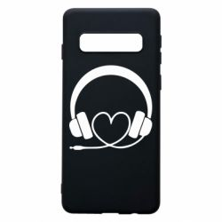 Чехол для Samsung S10 Headphones and heart - FatLine