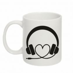 Кружка 320ml Headphones and heart - FatLine