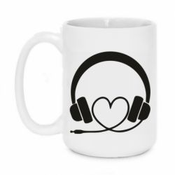 Кружка 420ml Headphones and heart - FatLine