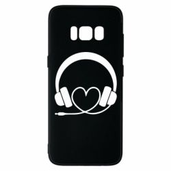 Чехол для Samsung S8 Headphones and heart - FatLine