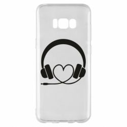 Чехол для Samsung S8+ Headphones and heart - FatLine