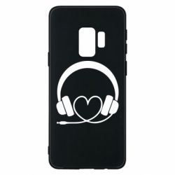 Чехол для Samsung S9 Headphones and heart - FatLine