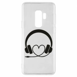 Чехол для Samsung S9+ Headphones and heart - FatLine