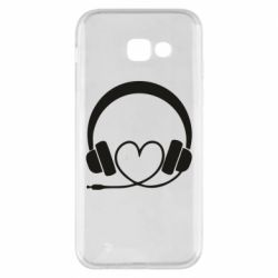 Чехол для Samsung A5 2017 Headphones and heart - FatLine