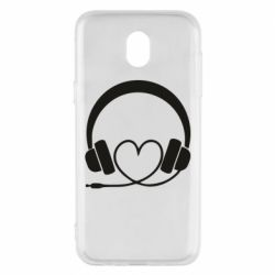 Чехол для Samsung J5 2017 Headphones and heart - FatLine
