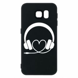 Чехол для Samsung S6 Headphones and heart - FatLine
