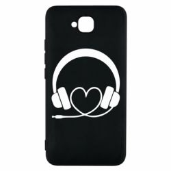 Чехол для Huawei Y6 Pro Headphones and heart - FatLine