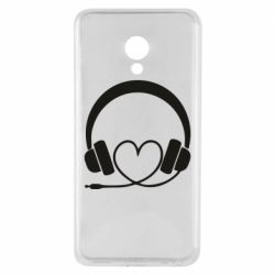 Чехол для Meizu M5 Headphones and heart - FatLine