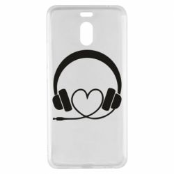 Чехол для Meizu M6 Note Headphones and heart - FatLine