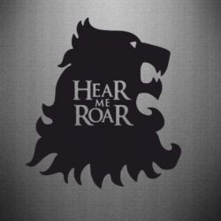 Наклейка Hear Me Roar - FatLine