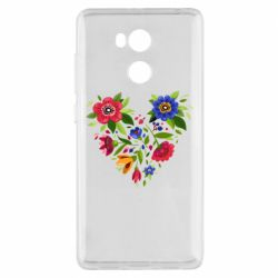 Чехол для Xiaomi Redmi 4 Pro/Prime Heart made of flowers vector