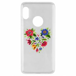 Чехол для Xiaomi Redmi Note 5 Heart made of flowers vector