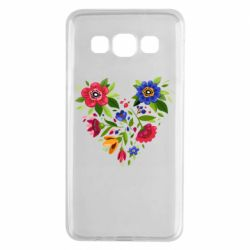 Чехол для Samsung A3 2015 Heart made of flowers vector