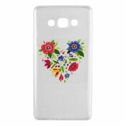 Чехол для Samsung A7 2015 Heart made of flowers vector
