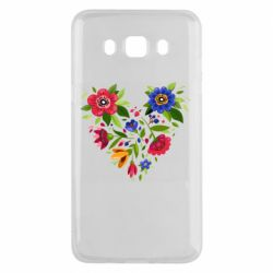 Чехол для Samsung J5 2016 Heart made of flowers vector