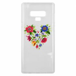 Чехол для Samsung Note 9 Heart made of flowers vector