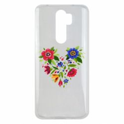 Чехол для Xiaomi Redmi Note 8 Pro Heart made of flowers vector