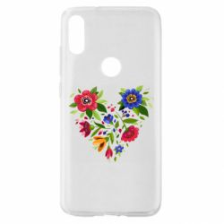 Чехол для Xiaomi Mi Play Heart made of flowers vector