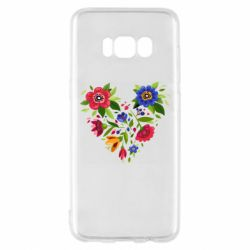 Чехол для Samsung S8 Heart made of flowers vector