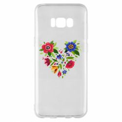 Чехол для Samsung S8+ Heart made of flowers vector