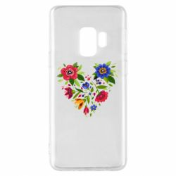 Чехол для Samsung S9 Heart made of flowers vector