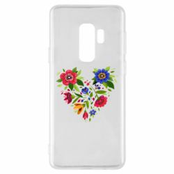 Чехол для Samsung S9+ Heart made of flowers vector